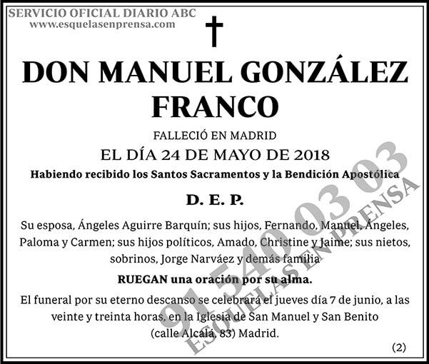 Manuel González Franco